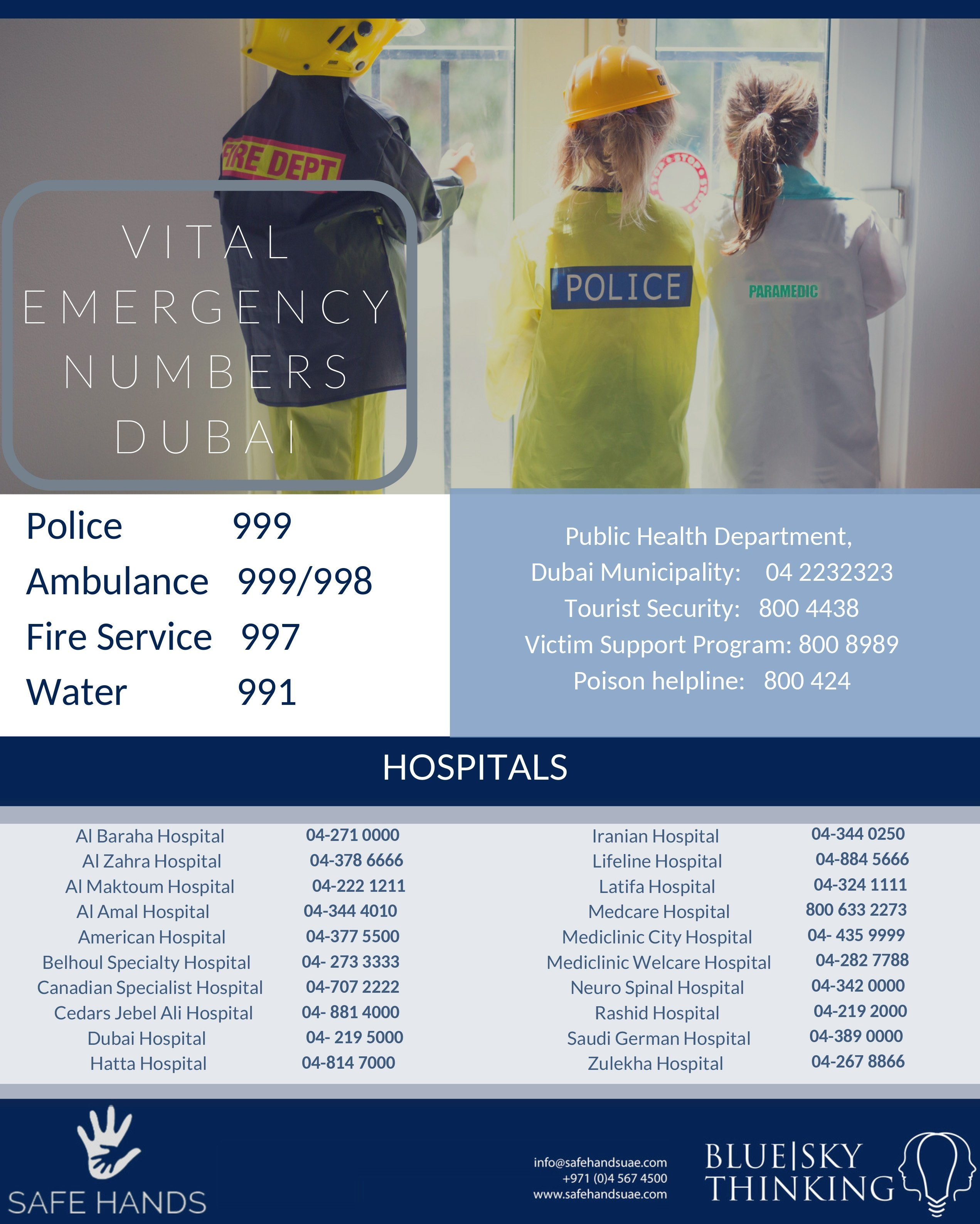 emergency numbers Dubai
